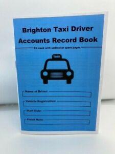 BRIGHTON TAXI DRIVER / PRIVATE HIRE  ACCOUNT RECORD BOOK 53 WEEK