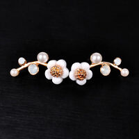 Crystal Flower Shell Ear Stud Earring Women Daisy Earring Wedding Party Jewelry