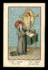 antico santino cromo-holy card S.LUTGARDA DI TONGRES
