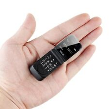 "Mini Flip Mobile Phone LONG-CZ J9 0.66"" Smallest Cell Phone Bluetooth Wireless"
