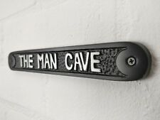 LARGE MAN CAVE DOOR WALL SIGN PLAQUE SHED GARAGE VINTAGE CAST METAL DAD GIFT