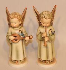 Hummel Figurines Festival Harmony Mandolin & Flute 172/0 173/0 TMK 5 Large Angel