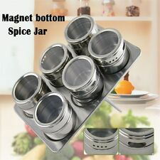 New Portable Magnetic Salt Pepper Stainless Steel Spice Jar Flavoring Container