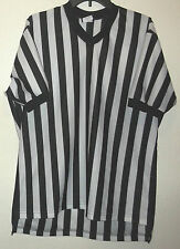 Black & white striped shirt sleeve referee jersey by Dalco Athletic size XXL