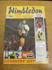 16/11/1996 Wimbledon v Coventry City  . Thanks for viewing this item, buy with c