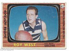1967 Scanlens (62) Roy WEST Geelong ::