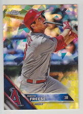 DAVID FREESE 2016 Topps Chrome Sapphire #44 Gold Refractor #D 2/5 Angels