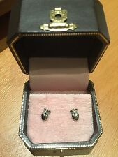 juicy couture silver e-royal heart studs