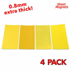 4 PACK | 200mm x 100mm YELLOW Magnetic Labels | Shelving Racking Label Magnet