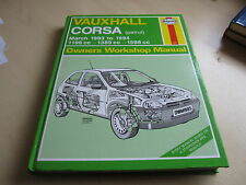 HAYNES WORKSHOP MANUAL ( 1985 ) VAUXHALL CORSA , 1993- 1994 ,ONE OWNER FROM NEW.