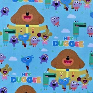 OFFCUT HEY DUGGEE DOG CHILDREN CHARACTER POLYCOTTON FABRIC