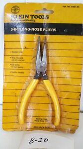 """Klein Tools D301-5C 5"""" Long-Nose Pliers"""