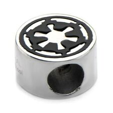 Official Stainless Steel Star Wars Galactic Empire Symbol Bead Charm - Bracelet