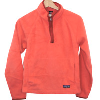 J198 Patagonia Quarter Zip Synchilla Sweater Jacket Orange Women's Size Small