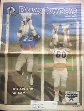 """"""" NFL Dallas Cowboys Official Weekly Magazine August, 11, 1984; Vol. 10, No.8"""