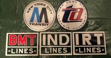 Vintage New York City Transit Nycta subway stickers Bmt Irt Ind lines Ta sign