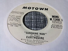 Earthquire 45 Sunshine Man Motown Promo 1249 70s Soul Funk VG