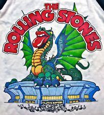 Vintage 80s 1981 THE ROLLING STONES Dragon American Rock Concert Tour T SHIRT S