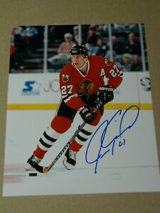 Jeremy Roenick Chicago Black Hawks autographed 8x10 photo