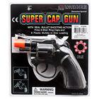 8 Ring Shot Cap Gun Black Police Pistol Revolver Snub Nose New Toy Replica New