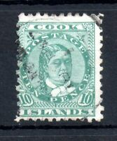 Cook Islands 1893 10d green SG#19 fine used WS13420
