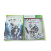 XBOX 360 ASSASSIN'S CREED Lot of 2 Revelations Signature Edition Ubisoft