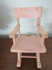 REDUCED!  Vintage Pink Rocking Chair Made for the 1950's Ginny Doll