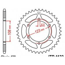 Couronne acier 52 dents derbi Jt sprockets JTR1133.52