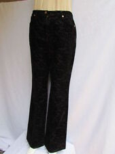 Escada Women Black Leaves Flowers Lace Unique Dressy Denim Jeans Pants 38/4