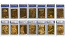 (7) STAR WARS 23KT GOLD CARD WCG GEM MT 10 COMPLETE SET OF 7! FALCON/VADER/JEDI