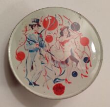"""Vintage U.S. Metal Toy Mfg. Co. Noise Maker """"Happy New Years"""" Party Scene"""