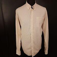 Da Uomo a Maniche Lunghe CHECK PRINT Camicia Uomo controllato Tattersall pulsante Casual Camicie