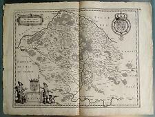 Gravure, Carte du Pays de Valois, Valesium Ducatus, XVII°s. ORIGINAL