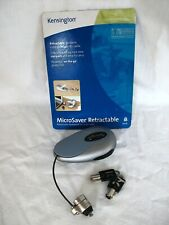 Kensington Microsaver Retractable Notebook 4ft Security Cable Keyed Portable New