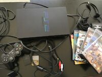 Sony PlayStation 2 PS2 Console System Bundle W/ Controller Games Set Lot -Tested