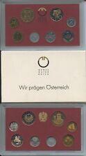 GN295 - Österreich Kursmünzensatz 1990 PROOF KMS Mint Coin Set