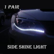 2Pcs 8W 24inch HID White LED Side Shine Strip 30SMD Bulb Fog DRL Head Slim Light