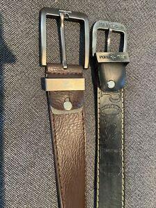 Mens Leather Belts X 2 - Polo & Armani