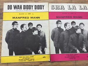 MANFRED MANN SHEET MUSIC - 2 - DO WAH DIDDY DIDDY + SHA LA LA