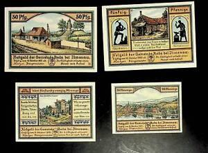 1921 Germany RODA 20 25 50  Phennig Banknote / Notgeld