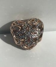 PANDORA AUTHENTIC ROSE GOLD CHARM LOVE AND APPRECIATION