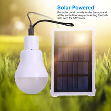 Portable Solar Powered chargering LED Light Bulb Outdoor Camping Yard Lamp L12
