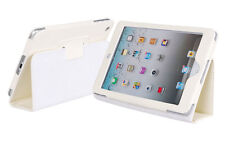 APPLE IPAD 2 White LEATHER FLIP CASE COVER PROTECTOR & STAND SLIM
