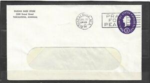 Vintage 1958 Dugins Shoe Store, Tuscaloosa, Alabama Advertising Window Envelope