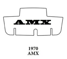 1970 AMC Javelin Trunk Rubber Floor Mat Cover with A-070 AMX