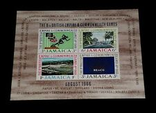 JAMAICA #257a, 1966, COMMONWEALTH GAMES, SOUVENIR SHEET, MNH, NICE LQQK
