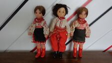 Lot of three costumes dolls from Ukraine (Soviet Union/USSR), 1970s