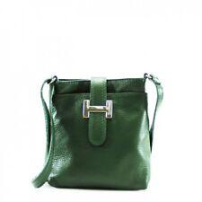 Handbag Green Italian Leather Crossbody Small Shoulder Bag Ladies New