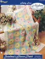 Grandma's Flower Patch Baby Love Afghan Pattern The Needlecraft Shop 1996 TNS