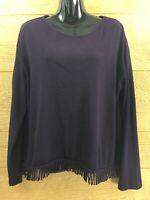 Women's Lemmie Nina Leonard Shirt Sweater Size Small Purple Top Dressy Blouse